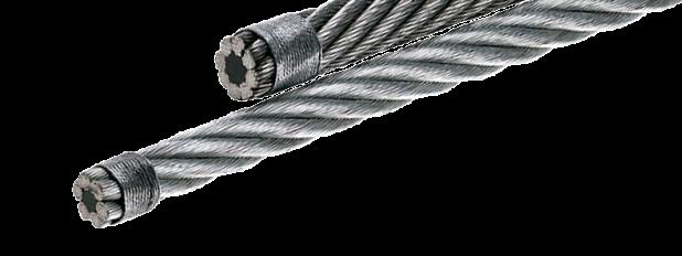 Linha completa de cabos de aço e acessórios